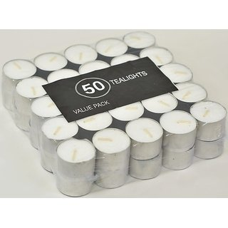 Set of 50 Unscented Tealights