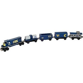 Csx 5 Car Wooden Toy Train Set By Whittle Shortline Railroad
