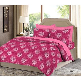 Bombay Dyeing Camelia Cotton Double Bedsheet  With 2 Pillow Covers