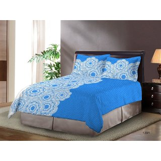 Bombay Dyeing Festiva Cotton Double Bedsheet  With 2 Pillow Covers