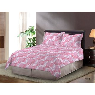 Bombay Dyeing Fressia Cotton Double Bedsheet  With 2 Pillow Covers
