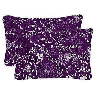 Cotton 2 piece Pillow Cover Set - Purple