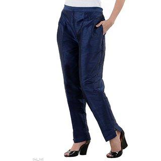 cigarette pants/women trousers pants/Navy Blue color pants/ ladies trouser/pants