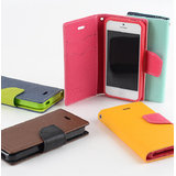 GOOSPERY FANCY DIARY COVER CASE FOR IPHONE 4 & 4S - Black-Brown Color