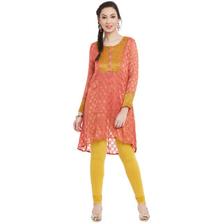 PRINTED-ORANGE-KURTI