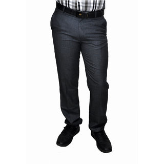 NoVowels Formal TR Fabric Trousers in Dark GrayFor 32 Size