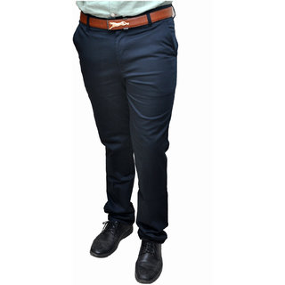 NoVowels Formal Sartin Lykra Trousers in Blue For 30 Size