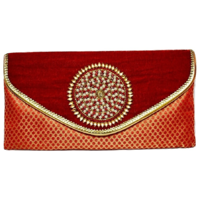 Rosnie Red Velvet Party Clutch bag