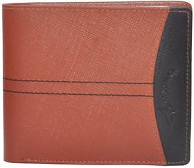 Tamanna Men Tan, Black Genuine Leather Wallet  (8 Card Slots)