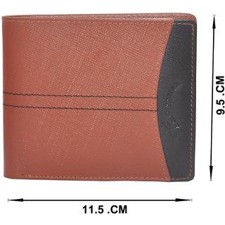 c53e67cb842b Tamanna Men Tan, Black Genuine Leather Wallet (8 Card Slots)