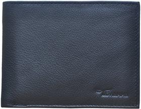 Tamanna Men Black Genuine Leather Wallet  (6 Card Slots)