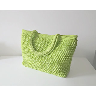 ladies bag market bag crochet purse gift  hand  made			GREEN