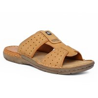 Red Chief Mens Rust Slip On Sandals