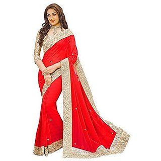 8550ea75c2 Buy Nasruddin Ladies Red Color Desiner Sarees Online @ ₹850 from ...