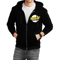 Fanideaz Cotton  Bazinga Big Bang Theory   Zipper Hoodies For Men Zipper SweatshirtBlackL