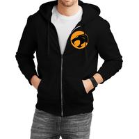 Fanideaz Cotton  Thundercats Team Jaguar  Zipper Hoodies For Men Zipper SweatshirtBlackL