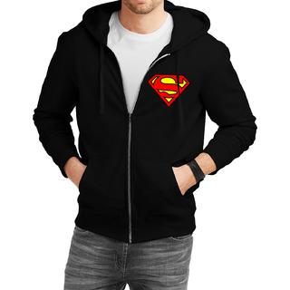 Fanideaz Cotton  Super S   Zipper Hoodies For Men Zipper SweatshirtBlackL