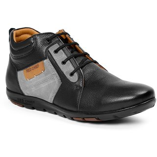 red chief men's black laceup casual shoes buy red chief