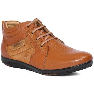 Red Chief Tan Men Outdoor Casual Leather Shoes (RC1364A 006)