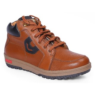 Red Chief Tan Men High Ankle Outdoor Casual Leather Shoes (RC3405 287)