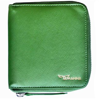 Tamanna Men Green Genuine Leather Wallet  (8 Card Slots)