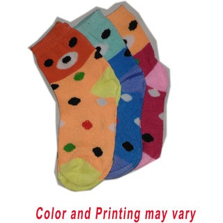 Multicolor Kids Socks set of 3 pairs