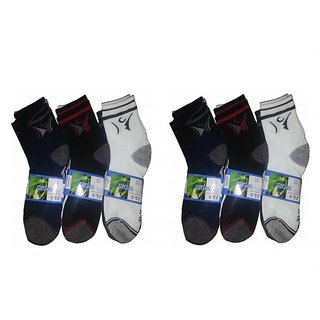 Jim-Dandy Mens Ankle Socks (6 Pairs) (CW-023)