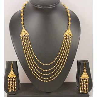 ce8d9ee64e805 Shining Diva Gold Plated Party Wear Traditional Necklace Set / Jewellery  Set with Earrings for Girls and Women