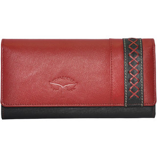 Tamanna Women Red Genuine Leather Wallet  (14 Card Slots)