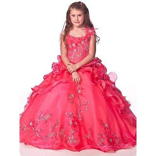 bc9cc7749 Buy Fashion Kids Girls Baby Princess Velvet and Net Party Wear Frock ...