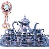 Meenakari Royal Tea Set N Get Marble Clock