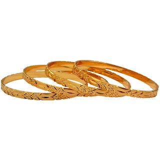 Pourni Gold Plated 4 Bangles-D003 (4 Pcs)