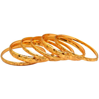 Pourni Gold Plated 8 Bangles-Sb6550 (8 Pcs)