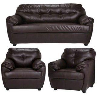 Earthwood - Riyaan Leatherette 3+1+1 Sofa Set
