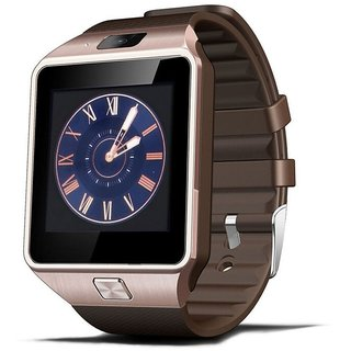 Limited Edition DZ09 Plus Mobile Phone with Memory Card Bluetooth Smart Watch Hidden Camera Rose Gold