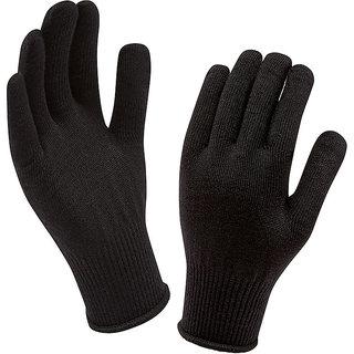 Ice Bear Woolen Black Gloves