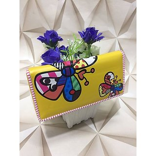 Shraddhas Gallery Presents Yellow Color Wallet