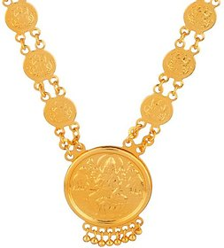 Memoir  Gold Brass & Copper Gold Plated Necklace and Chain For Women