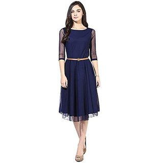 Women's Net Kurti (BlueFree Size)
