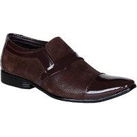 Bachini Brown Men Formal Slip-Ons