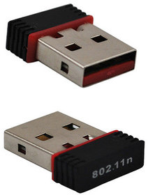 Mini Wi-Fi Receiver 300Mbps, 2.4GHz, 802.11b/G/N USB 2.0 Wireless Wi-Fi Network Adapter
