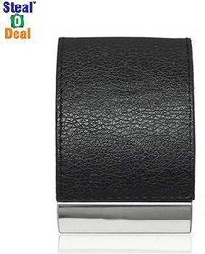 Stealodeal Black Top Elegant Visiting 20 Card Holder  (Set of 1, Black)
