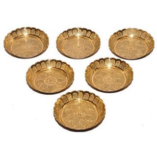 Haridwar Astro Brass 6 Pooja Thali Set 3- Inches