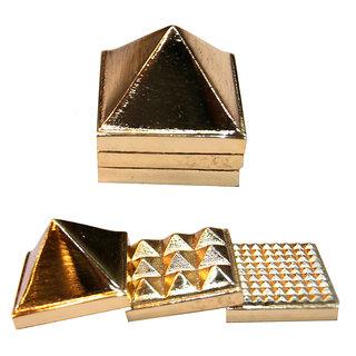 Haridwar Astro Brass Piramid 3pcs 1 inch