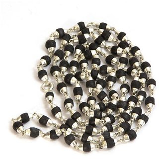 Pack of 1 SK1 only4u Black Tulsi Silver Cap Mala 108+1 Breads