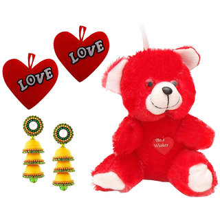 Buy Buy Valentine Gift Pack Red Moments Teddy Red Heart Cushions