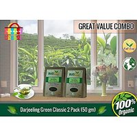 Darjeeling Green Classic Tea (50 Gm) - Pack Of 2 (Super Saver Offer)