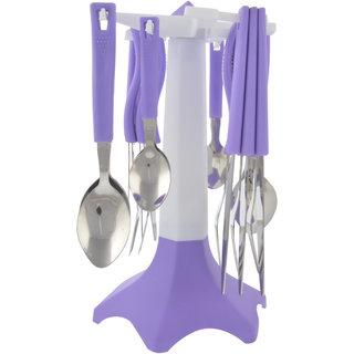 ANKUR Plastic Cuttlery Set, 25 Piece, Purple