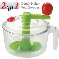 ANKUR Dough Maker  Vegetable Chopper, 7 Piece, White