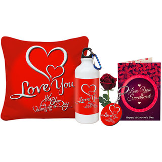 Buy Sky Trends Love You Happy Valentine Day Gift Printed Cushion